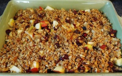 Gluten Free Cranberry-Apple Crumble